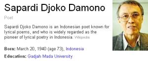 puisi untuk perpisahan sapardi djoko damono